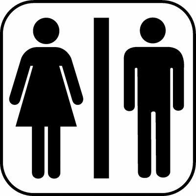Piktogramme für Unisex Toiletten