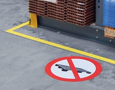 """Verbotszeichen zur Bodenmarkierung """"Paletten abstellen verboten"""""""