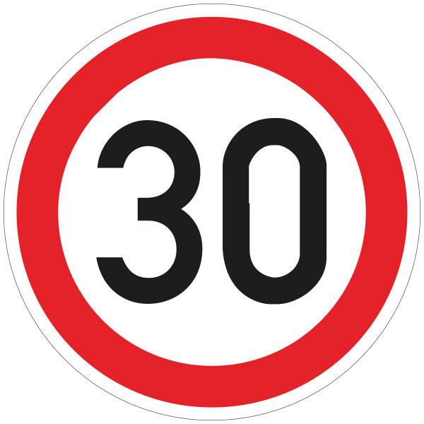 Verkehrsschilder Zulässige Höchstgeschwindigkeit nach StVO