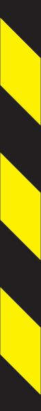 Warnband gelb schwarz rechtsweisend