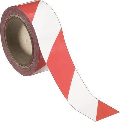 Selbstklebendes Warnband rot weiß