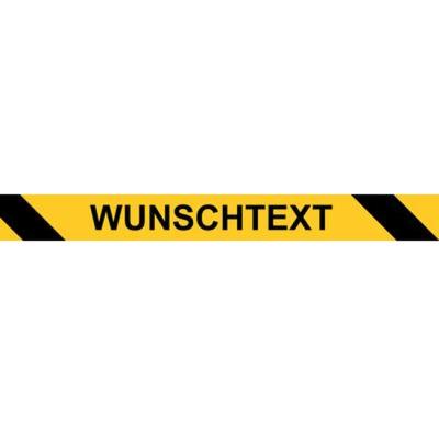 Warnband gelb schwarz mit Wunschtext