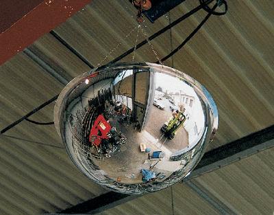Halbkugelspiegel mit 360 Grad-Blickfeld