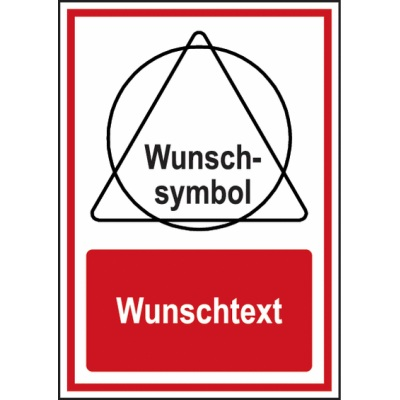 Brandschutz-Kombi-Schild Wunschtext