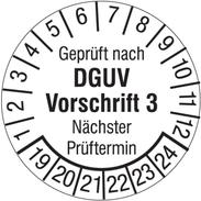 Geprüft nach DGUV Vorschrift 3 - Nächster Prüftermin