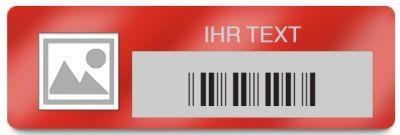 Inventaretiketten, individuell mit Logo, Barcode und Text