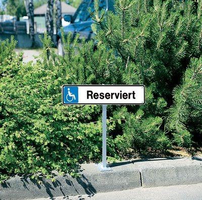 Kennzeichenschild Reserviert für Behinderte