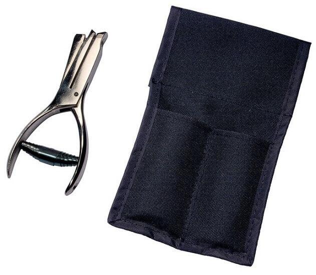 Lochzange mit Tasche