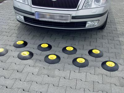 Markierungsteller für Parkplätze