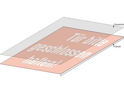 Rollenetiketten aus Polyesterfolie, laminiert
