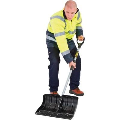 Schneeschieber massiv aus Kunststoff