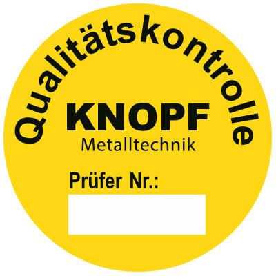 SETON individuelle Prüfplaketten 'Knopf'