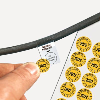 SETON Grundplakette für Kabelprüfplaketten