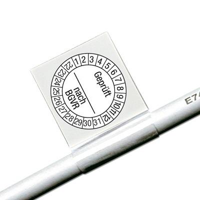 SETON Kabelprüfplakette Geprüft nach BGVR