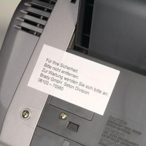 Sicherheits-Etiketten auf DIN A4-Bogen für Laserdrucker und Kopierer