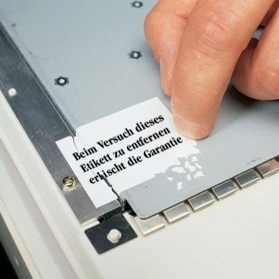 Sicherungsetikett für den Nachweis des Originalzustands