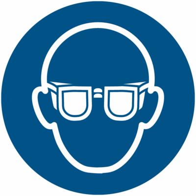 Augenschutz benutzen Schild