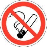 Piktogramm Zigarette durchgestrichen nach DIN4844