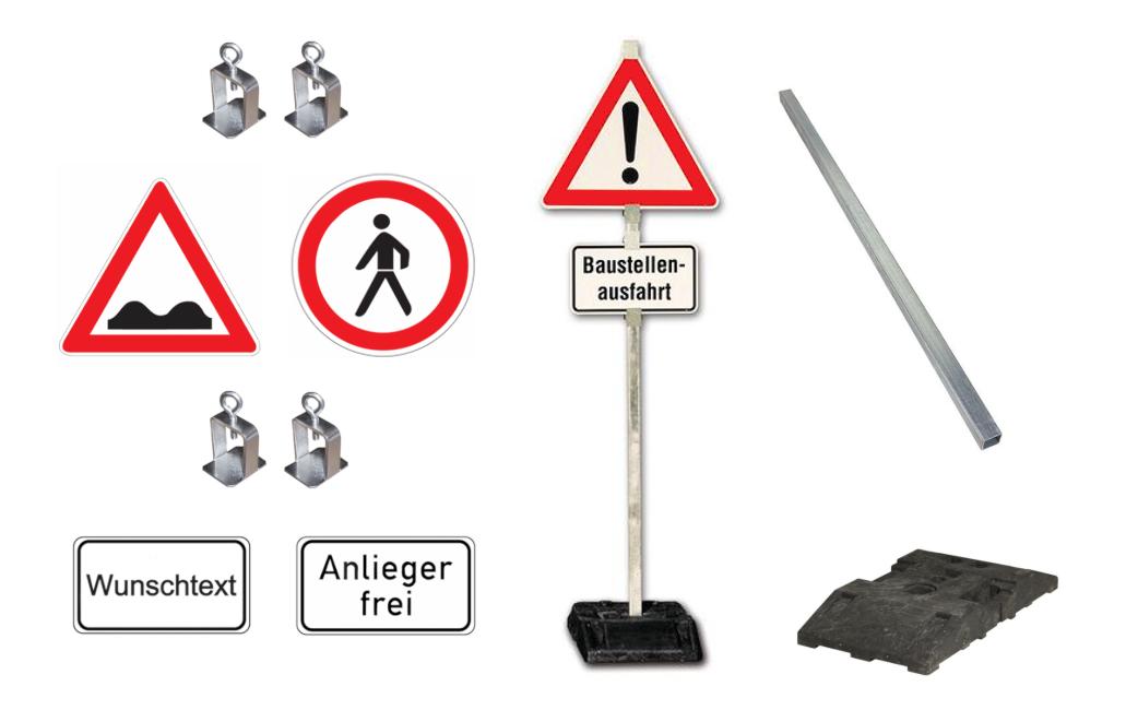 Verkehrsschilder-System, mobil