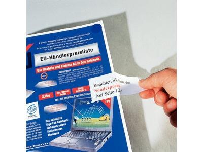 Widerabloesbare Bueroetiketten aus Papier