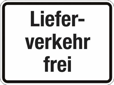 Zusatzzeichen StVO Lieferverkehr frei