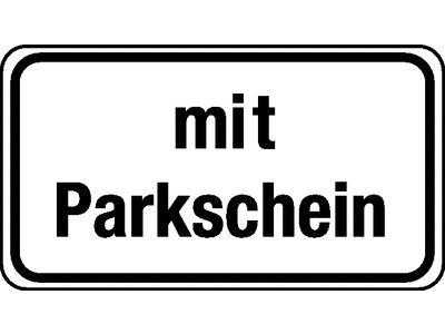 Verkehrszeichen-Nr. 1052-33 Zusatzzeichen Parken nur mit Parkschein
