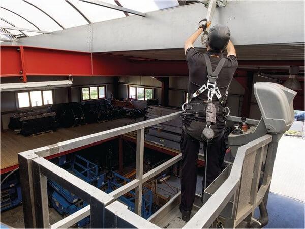 SKYLOTEC Höhensicherung auf Hubarbeitsbühne
