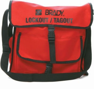 Rote BRADY Lockout-Tasche