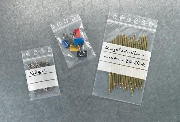 Druckverschlussbeutel mit individueller Beschriftung