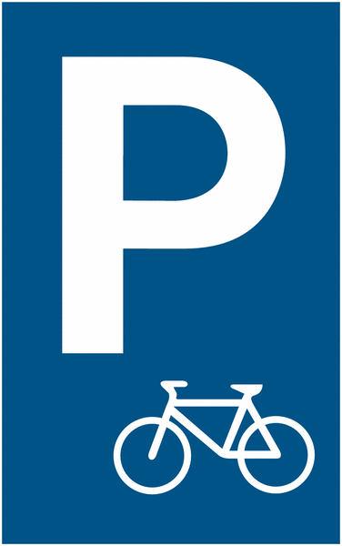 Parkplatzschild für Fahrradparkplatz