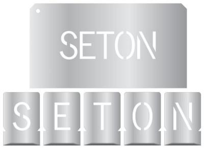 Buchstaben Schablone aus Zinkblech