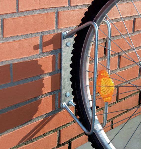 Fahrradhalter zur Wandmontage aus Stahl für ein Fahrrad
