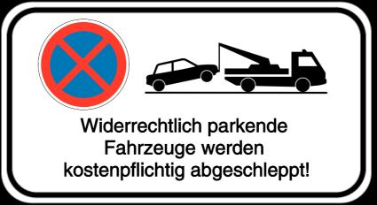 Vorlage: Absolutes Haltverbot mit Abschlepphinweis - Widerrechtlich parkende Fahrzeuge werden abgeschleppt