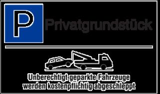 Vorlage: Parkplatzschild mit Abschlepphinweis - Privatgrundstück