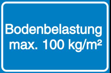 Vorlage: Bodenbelastung max. 100 kg/m²