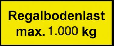 Vorlage: Regalbodenlast max. 1.000 kg