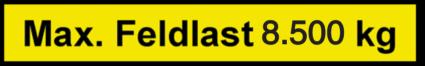 Vorlage: Max. Feldlast 8.500 kg