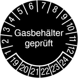 Gasbehälter geprüft