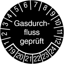Gasdurchfluss geprüft