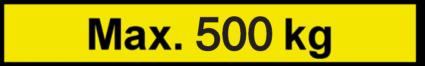 Vorlage: Max. 500 kg