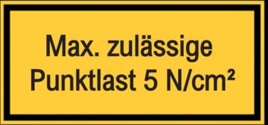 Vorlage: Max. zulässige Punktlast 5 N/cm²