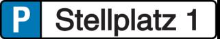 Vorlage: Parkplatz - Reservierungsschild - Stellplatz 1