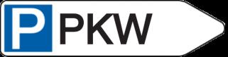 Vorlage: Wegweiser mit Parksymbol - PKW