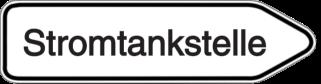 Vorlage: Wegweiser - Stromtankstelle