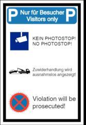 Vorlage: Parkplatz-Kombischild - Mehrsprachig