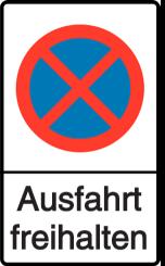 Vorlage: Absolutes Haltverbot - Ausfahrt freihalten