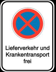 Vorlage: Absolutes Haltverbot - Lieferverkehr und Krankentransport frei