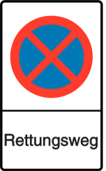 Vorlage: Absolutes Haltverbot - Rettungsweg