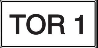 Vorlage: Zusatzschild - TOR 1
