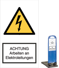 Vorlage: ACHTUNG Arbeiten an Elektroarbeiten